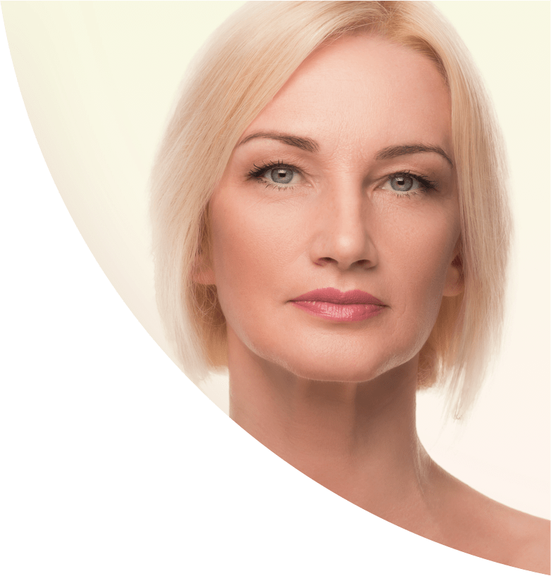 Skin cancer specialist, clinic, plastic surgeon - female face