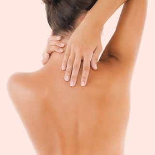 Skin cancer plastic surgery, treatment - female back